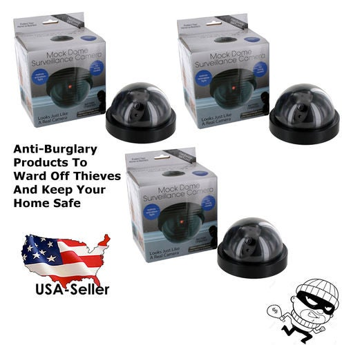 Dome Surveillance Camera (Deter Burglars away from your home with these Mock  Dome cameras with no worries)