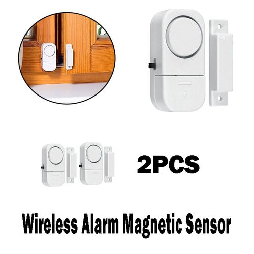 2Pcs Wireless Home Window Door Burglar Security Alarm System Magnetic Sensor Worldbusiness (Color:White)