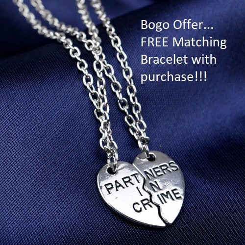 November Special... Buy one get one FREE!!!  18K white gold plated Partners in Crime necklaces and Bracelets