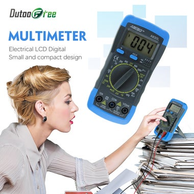 Digital Multimeter Voltmeter Ammeter AC DC OHM Volt Tester LCD Test Current Mult