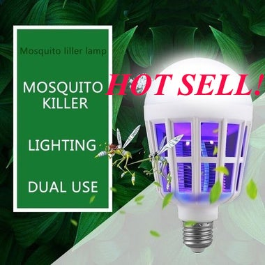 NEWEST 15W E27 LED Bulb Fly Pest Insects Reject LED Zapper Anti Mosquito Light B