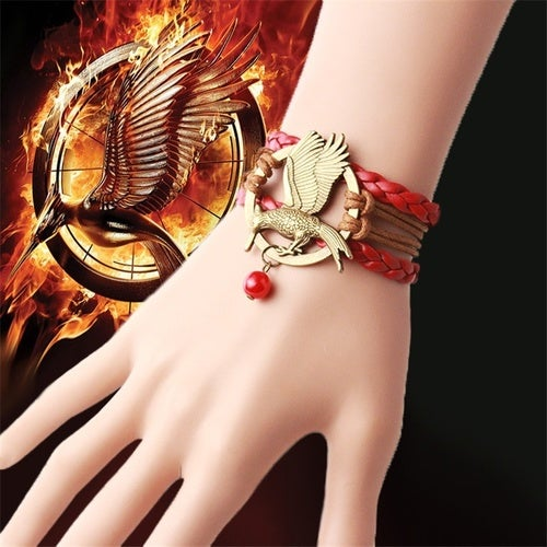 Hot USA Film Hand Catenary Series Mockingjay Anti-copper Hand maded Bracelet (Color: Copper)