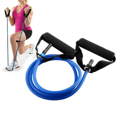 """Insten Resistance Exercise Stretch Bands Fitness Flexible Tube for Gym Yoga Home Travel Workout - 53"""" & 25 lbs"""