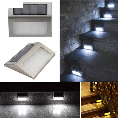 1 pcs Solar Power Led Light Outdoor Home Garden Yard Wall Pathway Stair Staircase Lamp