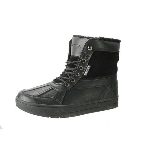 Nautica Mens Lockview Leather Fleece Lined Casual Boots
