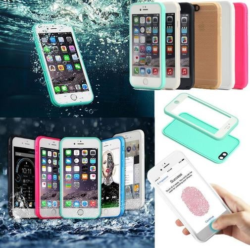 Waterproof Shockproof Hybrid Rubber TPU Phone Case Cover For iPhone 7 6 6S Plus 5S SE