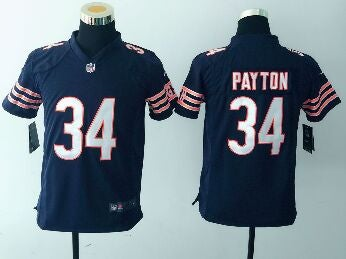 Chicago Bears #34 payton blue Youth Jersey