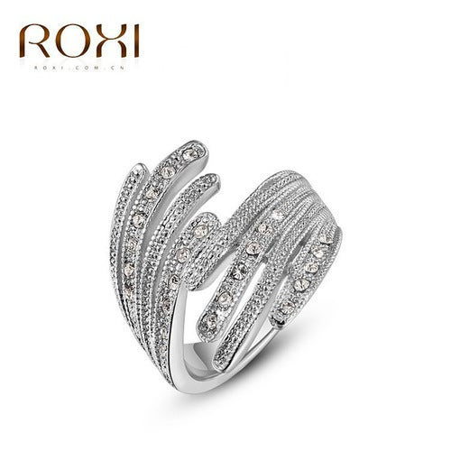 High-end Platinum wings ring