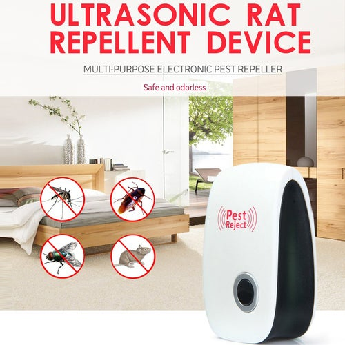 Electronic Pest Repeller Ultrasonic Frequency Control Keeps Insects and Rodents Away from Your Home - No Odors or Harmful Chemicals