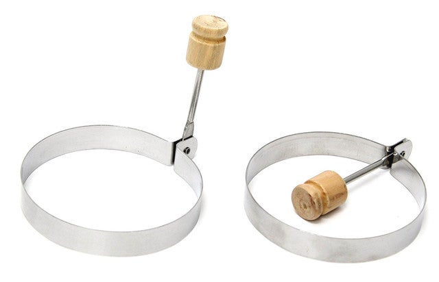 Egg Rings Stainless Steel Set of 2 - Cook Perfect Eggs Pancakes Omelettes