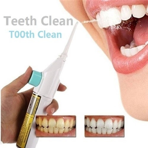 Portable Power Floss Dental Water Jet Cords Tooth Pick No Batteries Dental Cleaning Whitening Teeth Kit