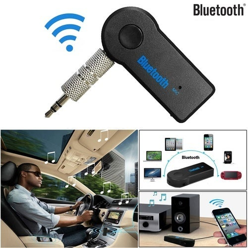 Bluetooth 3.5mm AUX Audio Stereo Music Home Car Receiver Adapter Mic