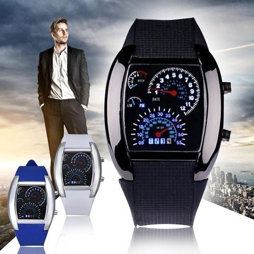 Aviation Dashboard LED Men's Watches