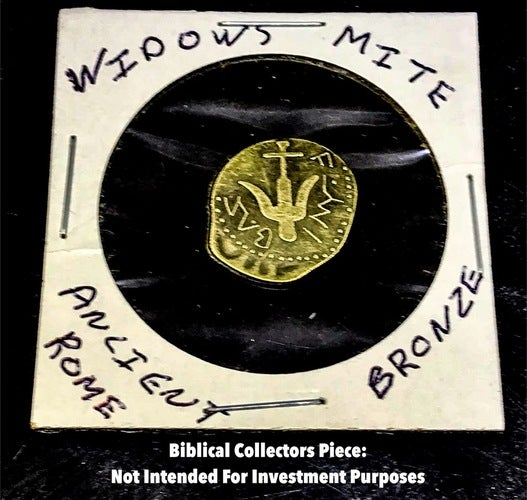 Tribute Ancient Bronze Widow's Mite Coin (Biblical Coin)