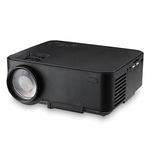 RUISHIDA M1 Ultimate Android 4.4.4 1500 Lumens 800 x 480 Pixels Projector with LAN Port HDMI USB SD Card Slot for Home Office Education