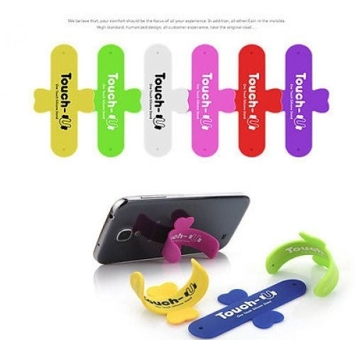 Touch-U One-touch Silicone Kickstand Holder Stand for Smart Phone iPhone Samsung