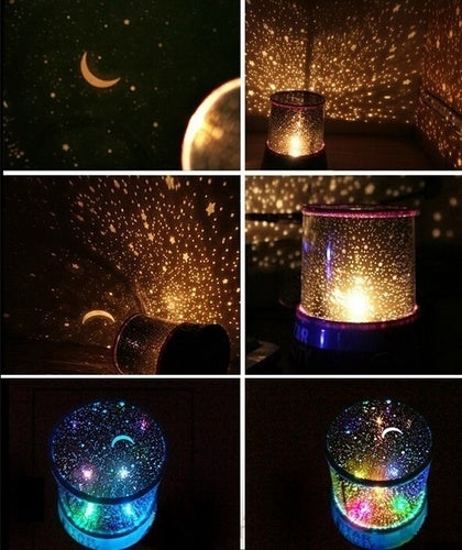 Home Decor Fashion Sky Star Master Night Light Projector LED Lamp Fun Master Children Living Room Gift Kid Toy Light (Color: Black)