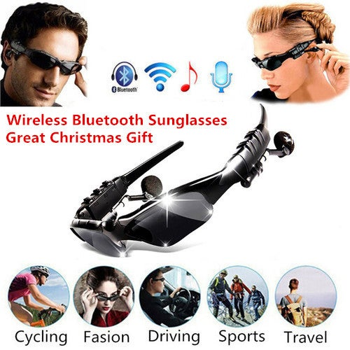 Great Christmas Gift for Your Family and Friends!!! Wireless Bluetooth Sunglasses Headset Headphones Handfree for iPhone Samsung HTC