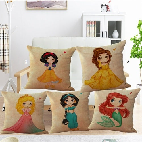 Fairy Princess Mermaid Decorative Square Linen Cotton cushion Pillow Case