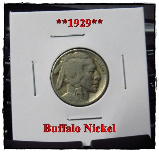 ★★1929★★ 89 Years Old ★★ Buffalo Nickel  - Rare and Authentic - Partial Date