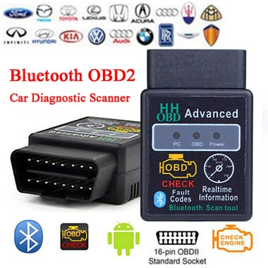CN 2017 Brand New Car Diagnostic Scanner Tool Bluetooth OBD2 CAN BUS & Engine Co