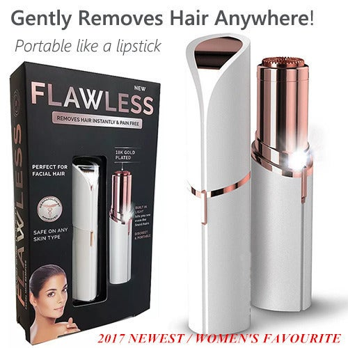 Finishing Touch Flawless Hair Remover Razor Body Face Electric Hair Removal Painless Lipstick Shaving Tool