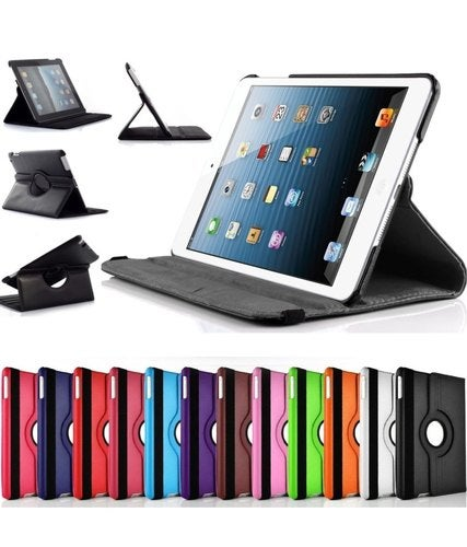 IPad Mini 1/2/3 Case - 360 Degree Rotating Stand Case Cover with Auto Sleep / Wake