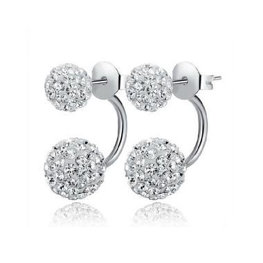 Fashion Shamballa Silver Earrings Women Crystal Jewelry