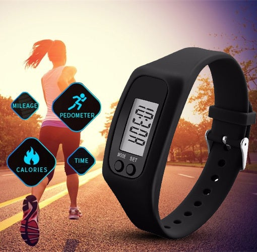 LED Pedometer Sport Bracelet Wristband Smart Watch Calorie Activity Monitor