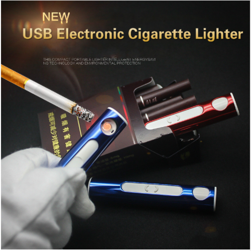 Personalized Creative Style Cylindrical USB Cigarette Lighter