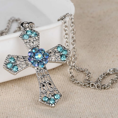 November special... Buy one get one for $5. Sterling silver AAA CZ cross necklaces comes in 5 colors