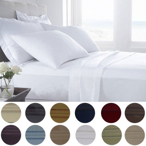 1800 Series Egyptian Comfort 6pc. Sheet set in 12 Color