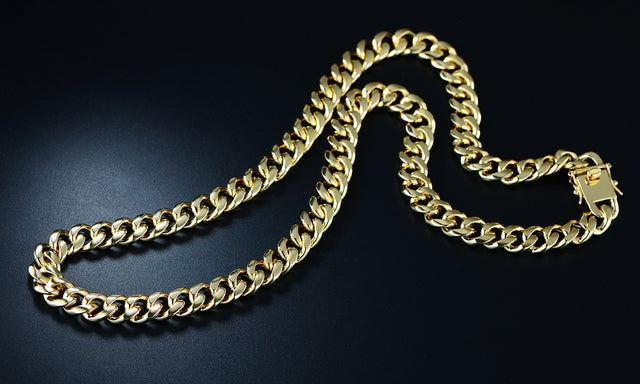 Gold Plated 26in.Curb Link Chain Necklace