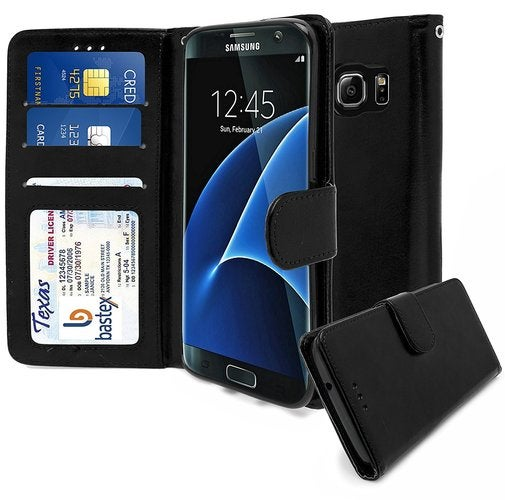 new product ed264 48a7e Samsung Galaxy S7 Edge Wallet Case, Leather Flip Wallet Credit Card Cover  for Samsung Galaxy S7 Edge