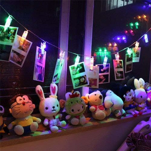 1.2M Mini 10 Led Photo Clip String Lights Battery Christmas Lights New Year Party Wedding Home Decoration Fairy Lights Battery