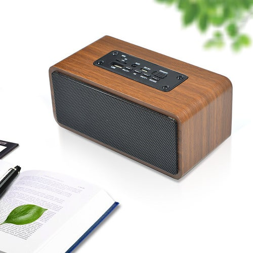 Hai Ming HM28 Wooden Bluetooth Speaker Wireless Phone Computer Home Card Portable Mini Audio Subwoofer