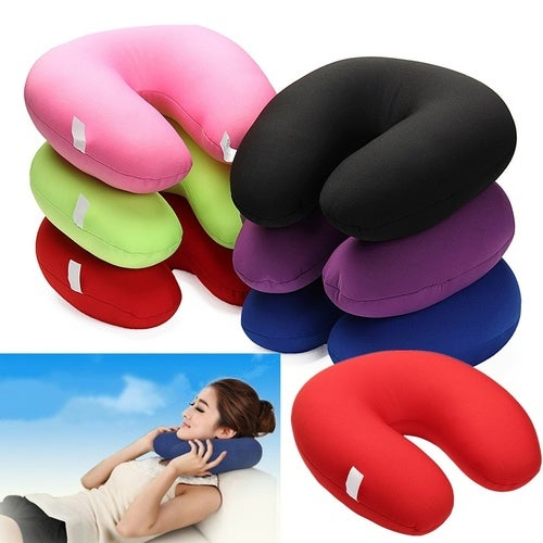 U Shaped Comfort Microbead Home Travel Car Neck Pillow Cushion Sleep Support Pain Relief Soft Nursing Cushion