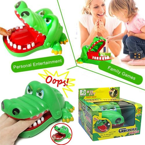 Great Gift for Christmas Crocodile Dentist Finger Snap Game Fun Toy