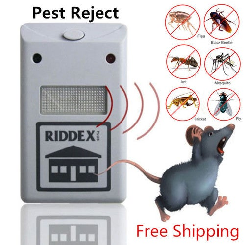 Free Shipping!!! Pest Control Reject Rat Spider Insect Ultrasonic Repeller Repellent
