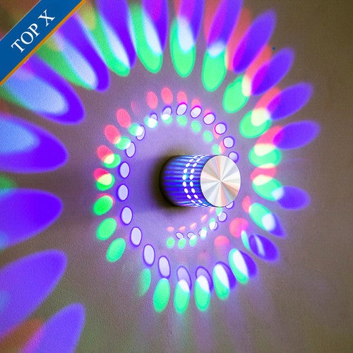 2017 New Creative LED Wall Lamp Aluminum Hollow Cylinder Wall Mounted Lights Modern Quality Background