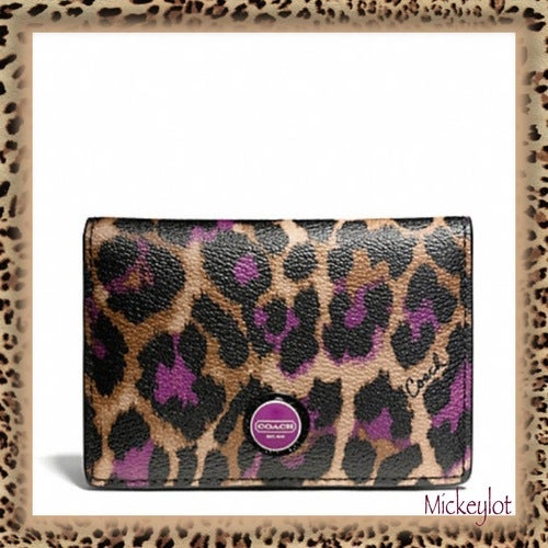 Nwt f66949 coach sig ocelot business card case tophatter nwt f66949 coach sig ocelot business card case colourmoves