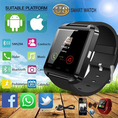 Multifunction Bluetooth Smart Watch U8 digital sport watches For iOS Android Pho