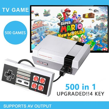 New!!! Mini Vintage Retro TV Game Console Classic 500 Built-in Games