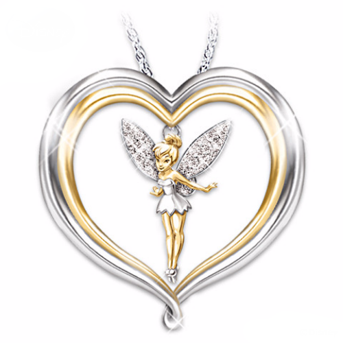 Adorable Two Tone Gold Plated Heart Eeyore Some Days Look Better Upside-Down Charm Necklace