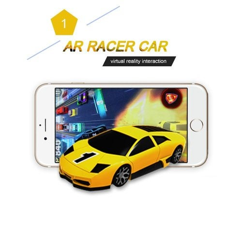 AR Car ,AR Racer A Real fly Car On Mobile With Lights,Vibration,Jumping Real Feel Virtual Reality Car Racing Gaming System and free Gaming App Mini Pocket Game Toy speed Car for Android,IOS
