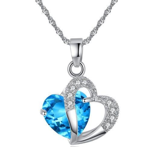 925 Sterling Silver Lovely Heart  Pendant Necklace