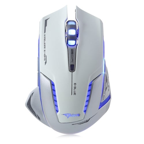 E-BLUE EMS601 7 Key Wireless LED Optical Gaming Mouse Adjustable 2500DPI for Home / Office(2 Color)