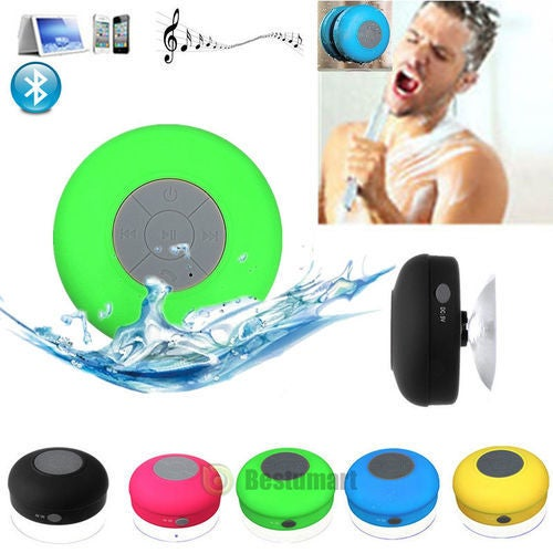 MID SUMMER SALE 55% OFF -- Quality Wireless Bluetooth Handsfree Waterproof Mic Suction Mini Speaker Shower Car