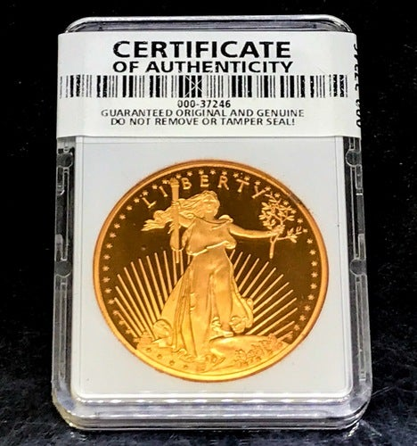 *Certified Authentic & Sealed With Serial* .999 Pure Bullion $50 American Gold Eagle Copper Commemorate