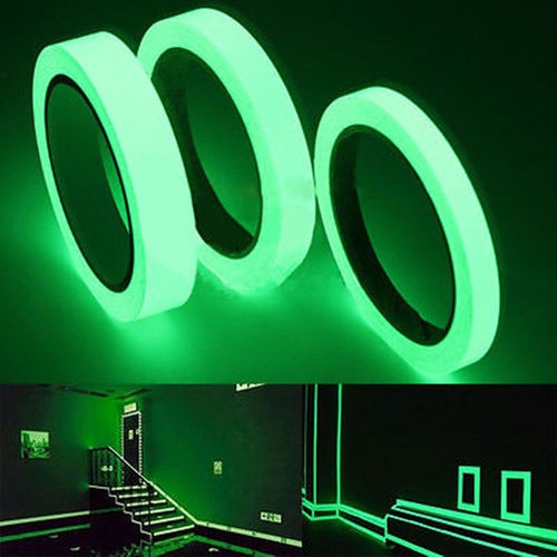 2cm* 4M Luminous Tape Waterproof Self-adhesive Glow In The Dark Safety Stage Home Decor